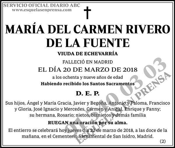María del Carmen Rivero de la Fuente